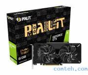 Видеокарта Nvidia GeForce GTX 1660 6 ГБ GDDR5 Palit PA-GTX1660 DUAL OC 6G (NE51660S18J9-1161A***)