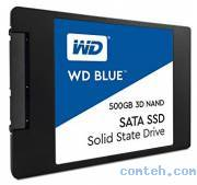 Накопитель SSD 500 ГБ Western Digital Blue (WDS500G2B0A***)