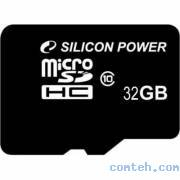 Карта памяти micro SDHC 32 ГБ SILICON POWER (SP032GBSTH010V10***)