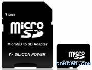 Карта памяти micro SDHC 16 ГБ SILICON POWER SP016GBSTH004V10-SP***